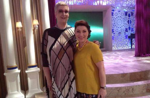 Писательница Татьяна Устинова и телеведущая Роза Сябитова