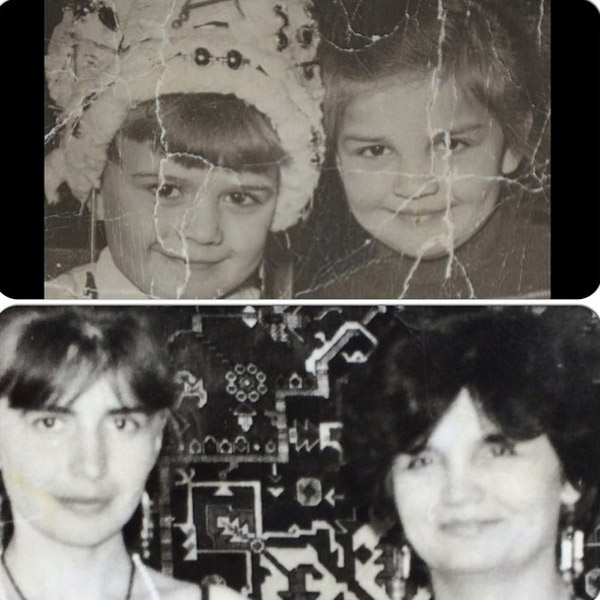 Ирина с родной сестрой - в детстве и в молодости