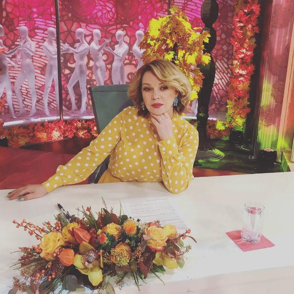 Елена Валюшкина на съемках «Модного приговора»