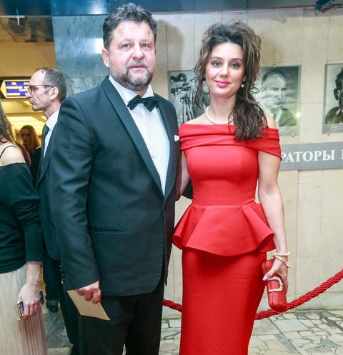Александр Самойленко с Натальей Громовой на церемонии вручения премии «Золотой орел»