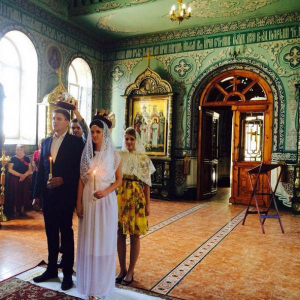 Венчание прошло в одном из ростовских храмов
