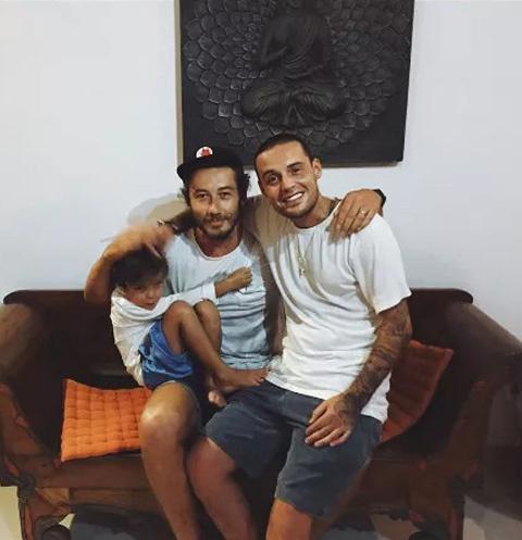 Дмитрий Анохин и Гуф с сыном Сэмом