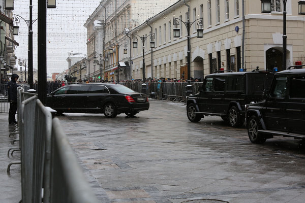 Кортеж президента Владимира Путина