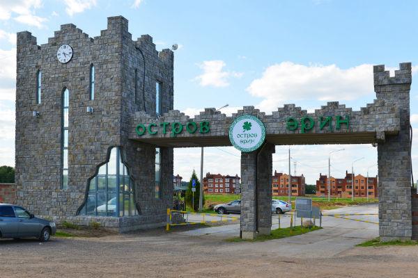 Коттеджный поселок расположен в 26 километрах от Москвы