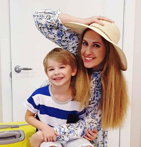 Ольга Гажиенко с сыном