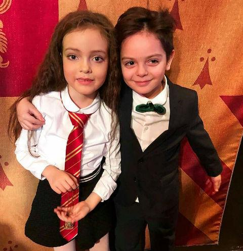 Алла-Виктория и сын Анастасии Стоцкой Саша