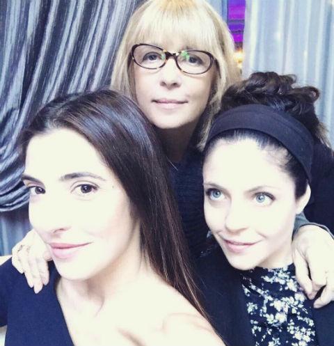 Вера Глаголева с дочерьми