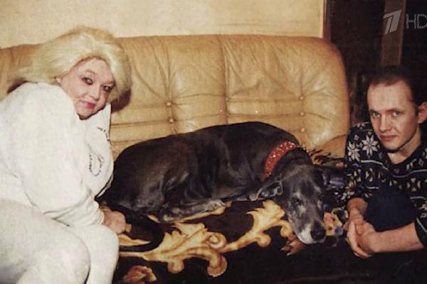 Кустинская с сыном Дмитрием