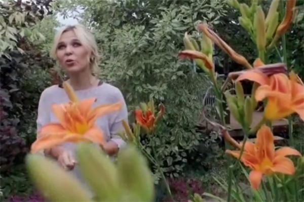 Пелагея любит прогуляться по участку, утопающему в цветах