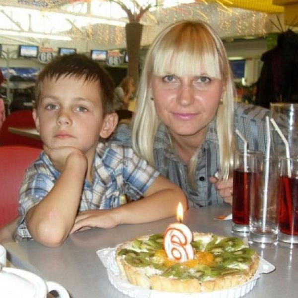 Наташа с сыном