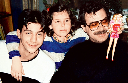 Иван, Мария и их отец Андрей Ургант