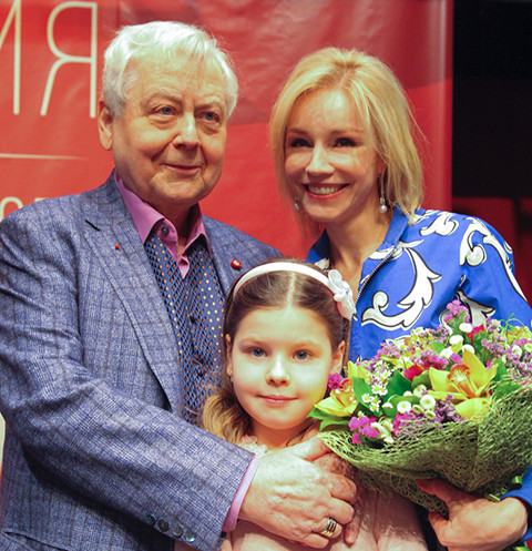 Олег Табаков, Марина Зудина и их дочка Маша