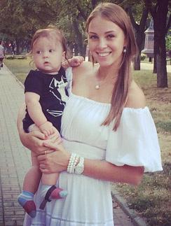 Полина с младшим сыном Федором в Ростове-на-Дону