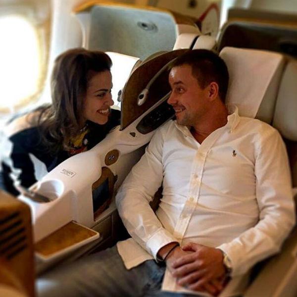 Сейчас Галина и Евгений улетели на отдых