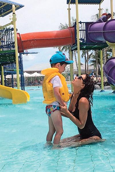 В январе Климова с детьми отдыхали на Бали