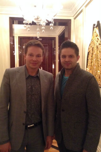 Эдгар Шабанов (Clarins) и победитель шоу «Голос» Сергей Волчков