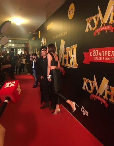 Ольга и Дмитрий на премьере фильма «Кухня. Последняя битва»