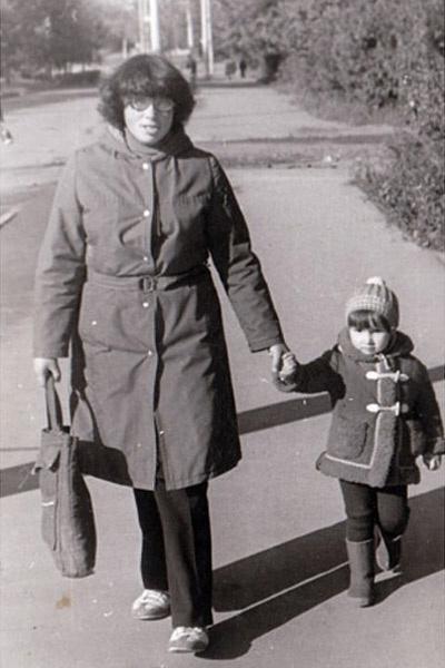 Анфиса Чехова с мамой