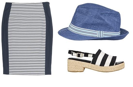 Юбка и шляпа SELA, Босоножки ASOS