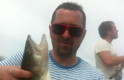 Алексей Рыжов на рыбалке