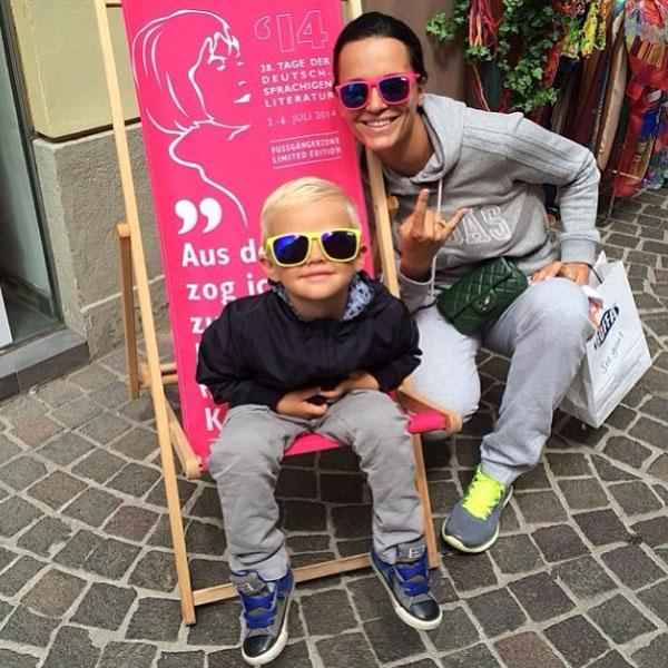 Певица Слава со своим племянником
