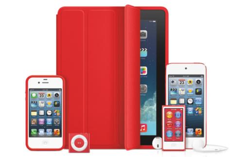 Специальная красная серия продуктов Apple
