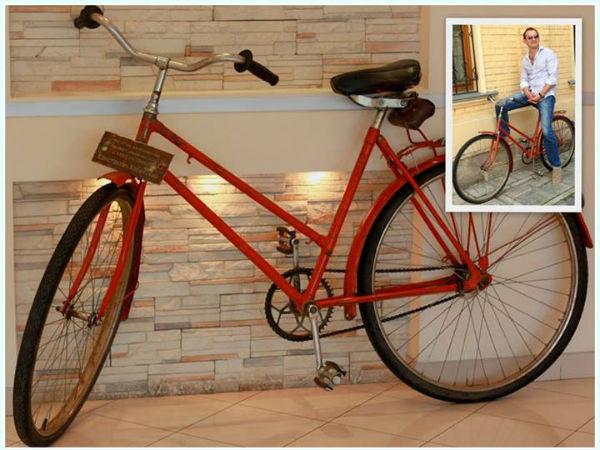 Велосипед, на котором актер катался в годы своей юности (с 1983 по 1986 годы)