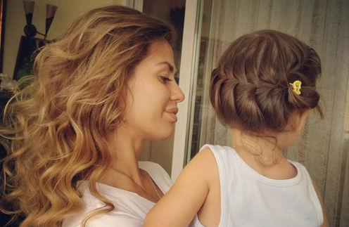Анджелине нет и двух лет, а волосы очень длинные