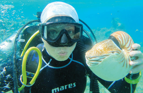 В ноябре Яна Чурикова под водой отметит юбилей - десять лет увлечения дайвингом
