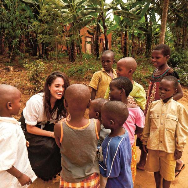 Меган помогает детям в слаборазвитых странах