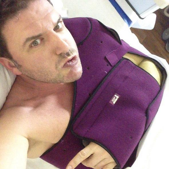 Максим Виторган и его травмированное плечо