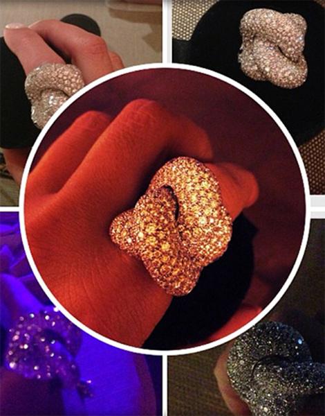 «Подарок от любимого мужа. Очень, очень красивое кольцо», - написала Лера.