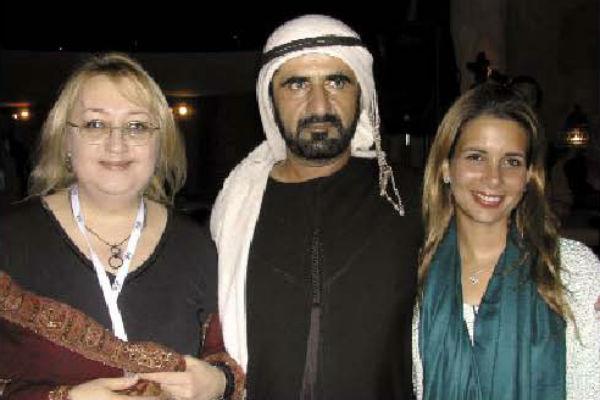 Екатерина Забегина с  правителем Дубая и его  второй женой