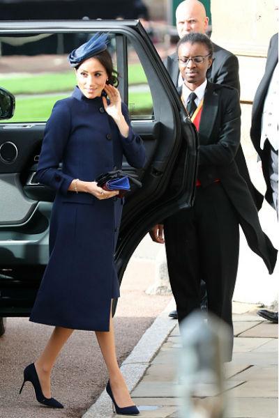 Меган Маркл прибыла на свадьбу в компании принца Гарри