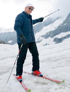 Алексей Гуськов на съемках фильма в Альпах. Июль 2013 года
