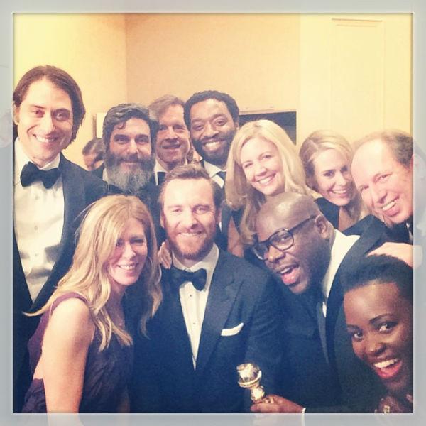 Члены съемочной группы «12 лет рабства» с «Золотым глобусом» за лучшую драму