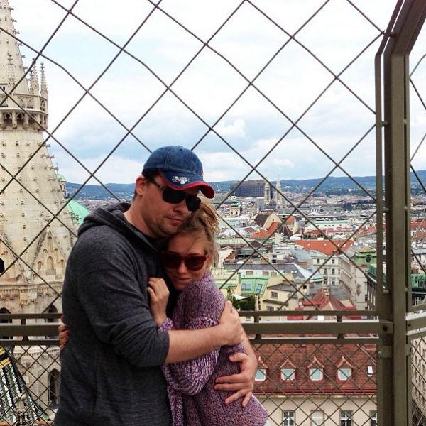 Пара побывала в Вене