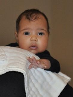 Первое опубликованное фото дочери