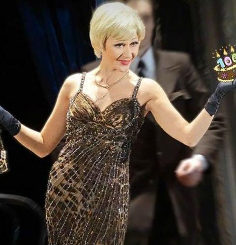 В прошлом году Ольга Лозовая в 100-й раз вышла на сцену в роли Клариссы в оперете Е. Хуски «Баронесса Лили»