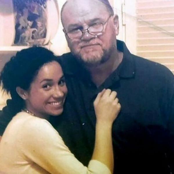 Меган Маркл с отцом Томасом