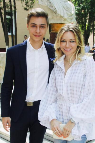 Инна Маликова и сын Дмитрий