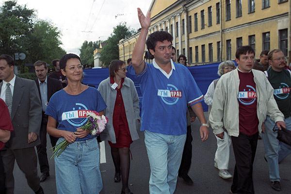 С Борисом Немцовым и активистами «Союза правых сил»