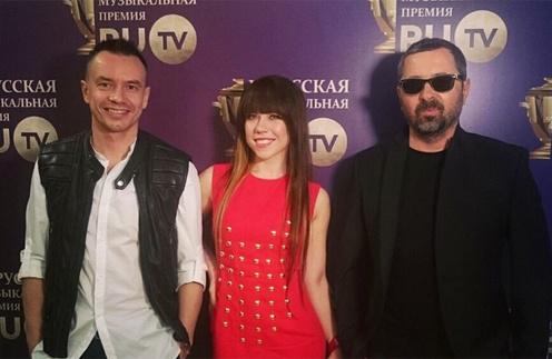Группа  «Дискотека Авария»: Алексей Серов, Анна Хохлова и Алексей Рыжов