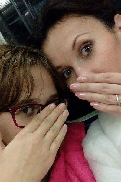 Каролина с дочерью Алисой