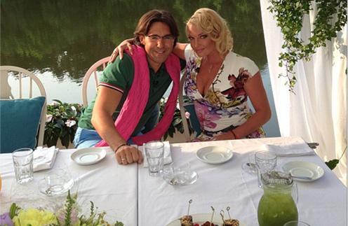 Анастасия Волочкова и Андрей Малахов на съемках