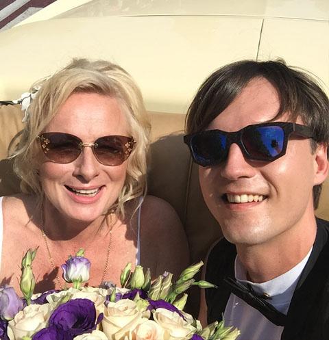 Юлия Григорьева-Аполлонова с мужем Андреем