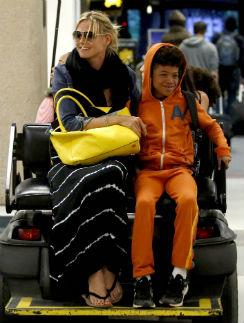 Хайди Клум с сыном Генри