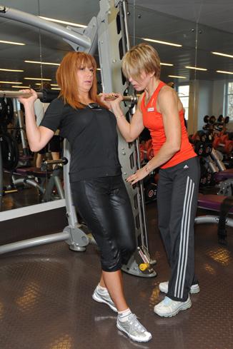Алена на тренировке с Галиной Хавкиной