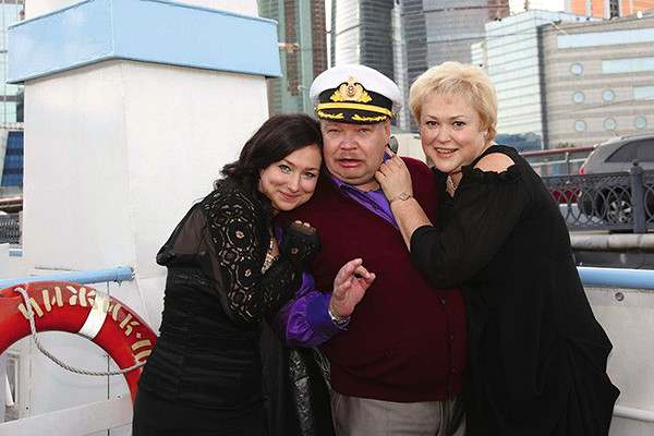 Николай с женой Мариной и дочкой Екатериной