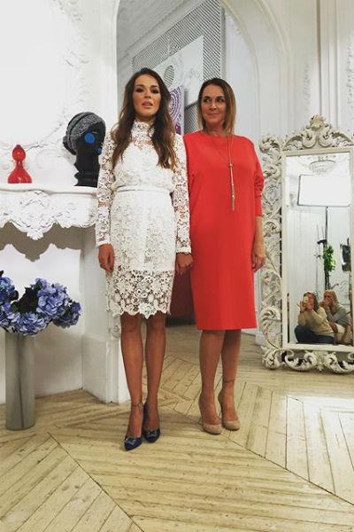 Татьяна Лютаева с дочерью Агнией Дитковските
